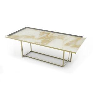 tavolino in ottone e marmo