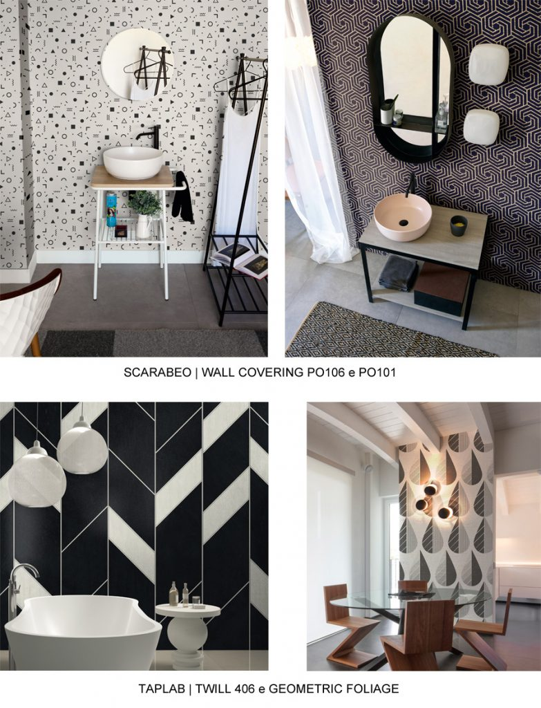 BLACK & WHITE WALL COVERINGS